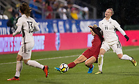 Columbus, Ohio - Thursday March 01, 2018: Abby Dahlkemper during a 2018 SheBelieves Cup match between the women's national teams of the United States (USA) and Germany (GER) at MAPFRE Stadium.