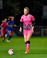 Ludmila Matavkova (9 Charleroi) pictured during a female soccer game between  AA Gent Ladies and Sporting Charleroi Feminin on the fifth matchday of the 2020 - 2021 season of Belgian Scooore Womens Super League , friday 16 th of October 2020  in Oostakker , Belgium . PHOTO SPORTPIX.BE | SPP | DAVID CATRY