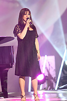 Marie-Helene Thibert performs during the Telethon Enfant Soleil in Quebec City Sunday June 3, 2012.