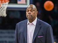 WASHINGTON, DC - JANUARY 28: Patrick Ewing head coach of Georgetown watches the play during a game between Butler and Georgetown at Capital One Arena on January 28, 2020 in Washington, DC.