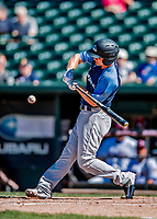 18 July 2018: Trenton Thunder infielder Bruce Caldwell in action against the New Hampshire Fisher Cats at Northeast Delta Dental Stadium in Manchester, NH. The Fisher Cats defeated the Thunder 3-2 in a 7-inning, second game of the day. Mandatory Credit: Ed Wolfstein Photo *** RAW (NEF) Image File Available ***