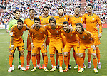 Real Madrid's team photo with Iker Casillas, Sergio Ramos, Pepe, Xabi Alonso, Karim Benzema, Cristiano Ronaldo, Angel Di Maria, Isco, Fabio Coentrao, Nacho Fernandez and Luka Modric during La Liga match.May 7,2014. (ALTERPHOTOS/Acero)