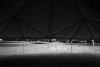 """Three white cones<br /> From """"Miami in Black and White"""" series. Miami, Florida, 2008"""