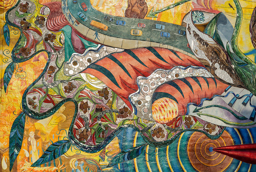 Sponsered urban mural, City of Philadelphia Arts Program, Pennsylvania, USA