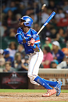 Nander De Sedas (25) of Montverde High School in Montverde, Florida at bat during the Under Armour All-American Game presented by Baseball Factory on July 29, 2017 at Wrigley Field in Chicago, Illinois.  (Mike Janes/Four Seam Images)