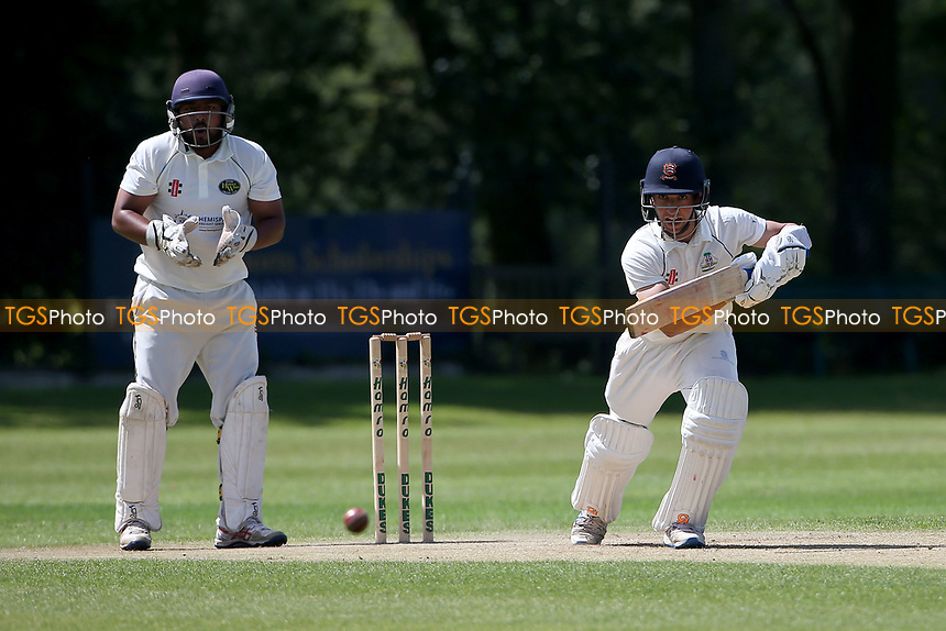 Robin Das in batting action for Wanstead during Wanstead and Snaresbrook CC vs Harold Wood CC, Hamro Foundation Essex League Cricket at Overton Drive on 17th July 2021