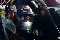 Sept 8, 2012; Clermont, IN, USA: NHRA top fuel dragster driver J.R. Todd during qualifying for the US Nationals at Lucas Oil Raceway. Mandatory Credit: Mark J. Rebilas-