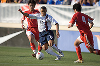 Charlie Davies prepares to kick the ball. The USA defeated China, 4-1, in an international friendly at Spartan Stadium, San Jose, CA on June 2, 2007.