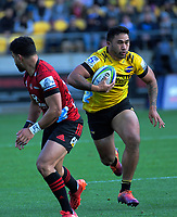 Hurricanes' Vince Aso in action during the Super Rugby Aotearoa match between the Hurricanes and Crusaders at Sky Stadium in Wellington, New Zealand on Saturday, 21 June 2020. Photo: Dave Lintott / lintottphoto.co.nz