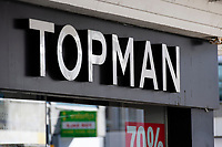 Pictured: A general view of Topman in Swansea City Centre during the Covid-19 Coronavirus pandemic in Wales, UK, Swansea, Wales, UK. Monday 23 March 2020