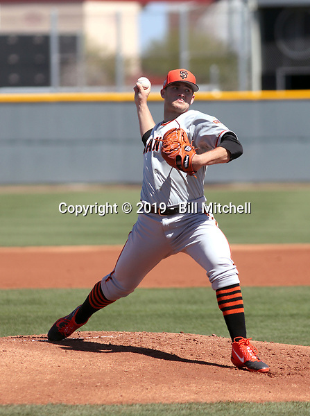Jake Wong - San Francisco Giants 2019 spring training (Bill Mitchell)