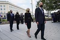 From right to left: United States President Joe Biden and first lady Dr. Jill Biden, and US Vice President Kamala Harris and Douglas Emhoff attend a wreath laying ceremony at National 9/11 Memorial at the Pentagon in Washington on September 11, 2021. <br /> CAP/MPI/RS<br /> ©RS/MPI/Capital Pictures