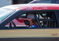 Sep 5, 2020; Clermont, Indiana, United States; NHRA factory stock driver Leah Pruett during qualifying for the US Nationals at Lucas Oil Raceway. Mandatory Credit: Mark J. Rebilas-USA TODAY Sports