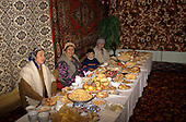 Near Samarkand, Uzbekistan. Feast for the end of Ramadan.