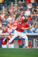 Williamsport Crosscutters designated hitter Adam Haseley (37) at bat during a game against the Mahoning Valley Scrappers on July 8, 2017 at BB&T Ballpark at Historic Bowman Field in Williamsport, Pennsylvania.  Williamsport defeated Mahoning Valley 6-1.  (Mike Janes/Four Seam Images)