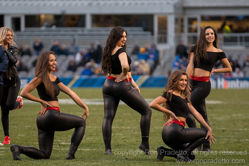 Pitt dance girl team members perform. The Pitt Panther defeated the Duke Blue Devils 56-14 at Heinz Field in Pittsburgh, Pennsylvania on November 19, 2016.