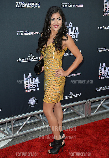 """Veronica Sixtos at the premiere of """"Grandma"""", the opening movie of the Los Angeles Film Festival, at the Regal Cinema LA Live.<br /> June 11, 2015  Los Angeles, CA<br /> Picture: Paul Smith / Featureflash"""