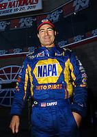 Oct. 30, 2011; Las Vegas, NV, USA: NHRA funny car driver Ron Capps during the Big O Tires Nationals at The Strip at Las Vegas Motor Speedway. Mandatory Credit: Mark J. Rebilas-