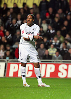 Pictured: Ashley Williams of Swansea City in action  <br /> Re: Coca Cola Championship, Swansea City Football Club v Queens Park Rangers at the Liberty Stadium, Swansea, south Wales 21st October 2008.