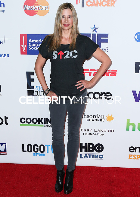 HOLLYWOOD, LOS ANGELES, CA, USA - SEPTEMBER 05: Mira Sorvino arrives at the 4th Biennial Stand Up To Cancer held at Dolby Theatre on September 5, 2014 in Hollywood, Los Angeles, California, United States. (Photo by Xavier Collin/Celebrity Monitor)