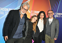 """Georges Schoucair, guest, Mounia Akl and Olivier Guerpillon at the 65th BFI London Film Festival """"Costa Brava, Lebanon"""" UK premiere, BFI Southbank, Belvedere Road, on Saturday 09th October 2021, in London, England, UK. <br /> CAP/CAN<br /> ©CAN/Capital Pictures"""