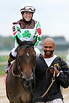 LOUISVILLE, KY -SEP 17: Fioretti (jockey Sophie Doyle) wins the 8th running of the Open Mind Stakes at Churchill Downs, Louisville KY. Owner Two Hearts Farm LLC (Anthony Braddock) and Don Janes, trainer Anthony J. Hamilton Jr. By Bernardini x Move Clickly (Cherokee Run) (Photo by Mary M. Meek/Eclipse Sportswire/Getty Images)