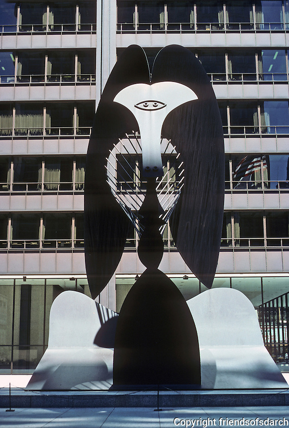 Chicago: Chicago Civic Center--Picasso Monument. Photo '76.