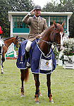Spain's jockey Juan Queipo de Llano with the horse Capote winner in the102 International Show Jumping Horse Riding, King's College Trophy. May, 20, 2012. (ALTERPHOTOS/Acero)