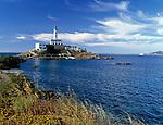 Spanien, Balearen, Ibiza (Eivissa): Faro de Botafoch - Leuchtturm an der Hafeneinfahrt zu Ibiza-Stadt | Spain, Balearic Islands, Ibiza (Eivissa): Faro de Botafoch - Lighthouse