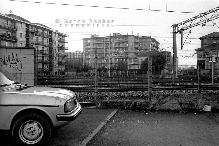 Novate Milanese, paese a nord di Milano. Stazione ferroviaria --- the railway station in Novate Milanese, small village north of Milan