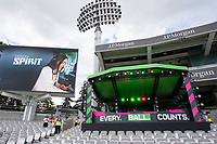 The DJ Stage and big screen during London Spirit Women vs Trent Rockets Women, The Hundred Cricket at Lord's Cricket Ground on 29th July 2021