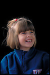 portrait of laughing young girl