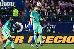 FC Barcelona's defender Javier Mascherano  during the match of Copa del Rey between Atletico de  Madrid and Futbol Club Barcelona at Vicente Calderon Stadium in Madrid, Spain. February 1st 2017. (ALTERPHOTOS/Rodrigo Jimenez)