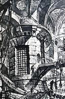 G.B. Piranesi:  Imaginary Prison--The Round Tower,  TAV. III.  Photo '77.