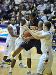 13 December 2008: Rishawn Johnson of Canisius tries to control a rebound in a game between Canisius and Albany won by Albany 74-46 at SEFCU Arena in Albany, New York.