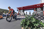 Kevin Inkelaar (NED) Bahrain-Mclaren powers off the start ramp of Stage 13 of the Vuelta Espana 2020 an individual time trial running 33.7km from Muros to Mirador de Ézaro. Dumbría, Spain. 3rd November 2020. <br /> Picture: Unipublic/Charly Lopez | Cyclefile<br /> <br /> All photos usage must carry mandatory copyright credit (© Cyclefile | Unipublic/Charly Lopez)