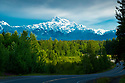 July 17 thru 23 / Alaska / Vacation and stock photography / Danali Range featuring Mt. McKinley from about 200 miles south of Denali State Park / Photo by Bob Laramie