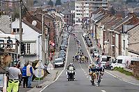 the forming of the breakaway group<br /> <br /> 85th La Flèche Wallonne 2021 (1.UWT)<br /> 1 day race from Charleroi to the Mur de Huy (BEL): 194km<br /> <br /> ©kramon