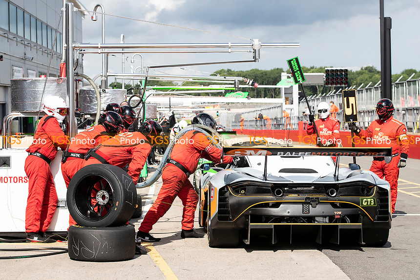 Balfe Motorsport re fuelling during the British GT & F3 Championship on 11th July 2021