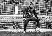 COMMERCE CITY, CO - OCTOBER 25: Alyssa Naeher of the USWNT makes a save at Dick's Sporting Goods training fields on October 25, 2020 in Commerce City, Colorado.