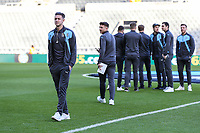 Harry Cornick of Luton Town (left) surveys the ground on arriving for the FA Cup 3rd round match between Newcastle United and Luton Town at St. James's Park, Newcastle, England on 6 January 2018. Photo by David Horn.