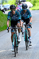 10th July 2021; Carcassonne, France; PACHER Quentin (FRA) of B&B HOTELS P/B KTM and ROLLAND Pierre (FRA) of B&B HOTELS P/B KTM during stage 14 of the 108th edition of the 2021 Tour de France cycling race, a stage of 183,7 kms between Carcassonne and Quillan