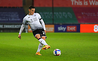 31st October 2020; Liberty Stadium, Swansea, Glamorgan, Wales; English Football League Championship Football, Swansea City versus Blackburn Rovers; Connor Roberts of Swansea City passes the ball forward