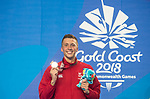 *This image must be credited to Ian Cook Sportingwales and can only be used in conjunction with this event only*<br /> <br /> 21st Commonwealth Games - Swimming -  Day 6 - 10\04\2018 - Gold Coast Optus Aquatic centre - Gold Coast City - Australia
