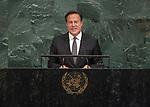 72 General Debate – 20 September <br /> <br /> <br /> His Excellency Juan Carlos Varela Rodríguez, President of the Republic of Panama