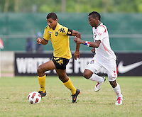 Omar Holness, Omar Browne. Panama defeated Jamaica, 1-0, during the third place game of the CONCACAF Men's Under 17 Championship at Catherine Hall Stadium in Montego Bay, Jamaica.