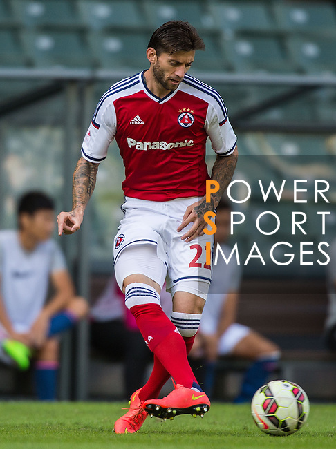 Bojan Malisic of SCAA in action during the HKFA Premier League between South China Athletic Association vs Kitchee at the Hong Kong Stadium on 23 November 2014 in Hong Kong, China. Photo by Aitor Alcalde / Power Sport Images