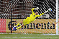 WASHINGTON, DC - AUGUST 25: Matt Turner #30 of New England Revolution saves a shot on goal during a game between New England Revolution and D.C. United at Audi Field on August 25, 2020 in Washington, DC.