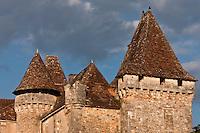 Europe/France/Aquitaine/24/Dordogne/ Saint-Jean-de-Côle: Le Château de la Marthonye ou de la Marthonie, XIVe siècle, XVe siècle, XVIe siècle et XVIIIe siècle, classé monument historique - Plus Beaux Villages de France