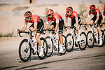 Team Arkea-Samsic on the front of the peloton during Stage 5 of the Saudi Tour 2020 running 144km from Princess Nourah University to Al Masmak, Saudi Arabia. 8th February 2020. <br /> Picture: ASO/Pauline Ballet | Cyclefile<br /> All photos usage must carry mandatory copyright credit (© Cyclefile | ASO/Pauline Ballet)